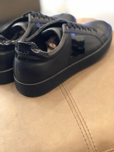 074-Lufiano Leather Sneaker-Black