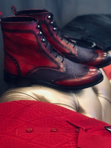 061 Lufiano Collection boots: Burgundy