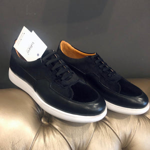 059 - Lufiano Leather Sneaker-Black