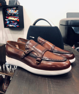 006 - Double Monk strap - Brown