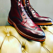 Load image into Gallery viewer, 060 Lufiano Collection boots: Burgundy