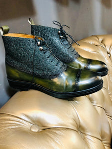 068 Lufiano Collection boots: Olive