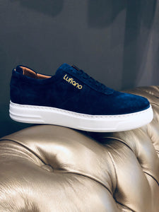 055 - Lufiano Suede Leather Sneaker- Navy