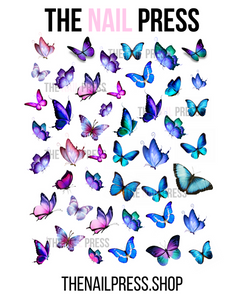 DECALS - OMBRE BUTTERFLIES - The Nail Press