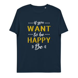 Be happy unisex organic cotton t-shirt