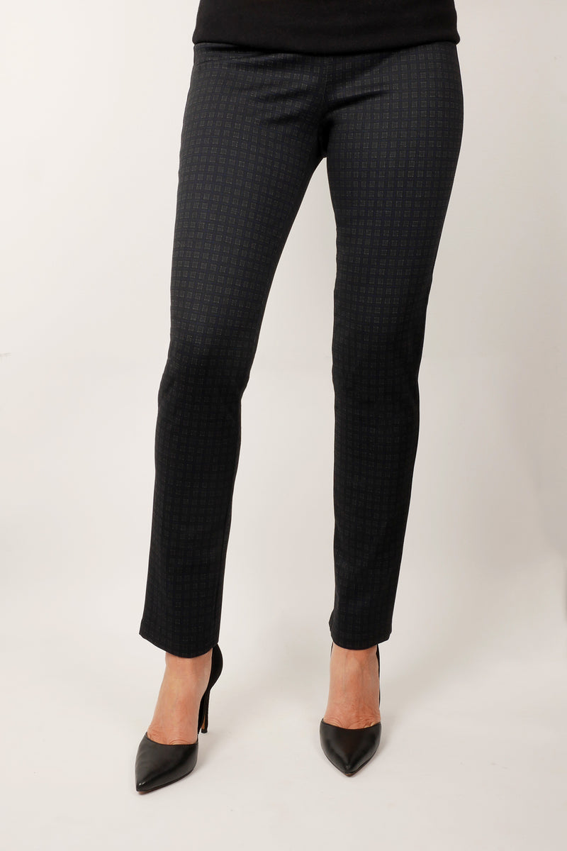 Pinpoint - Pull on mini-check pant