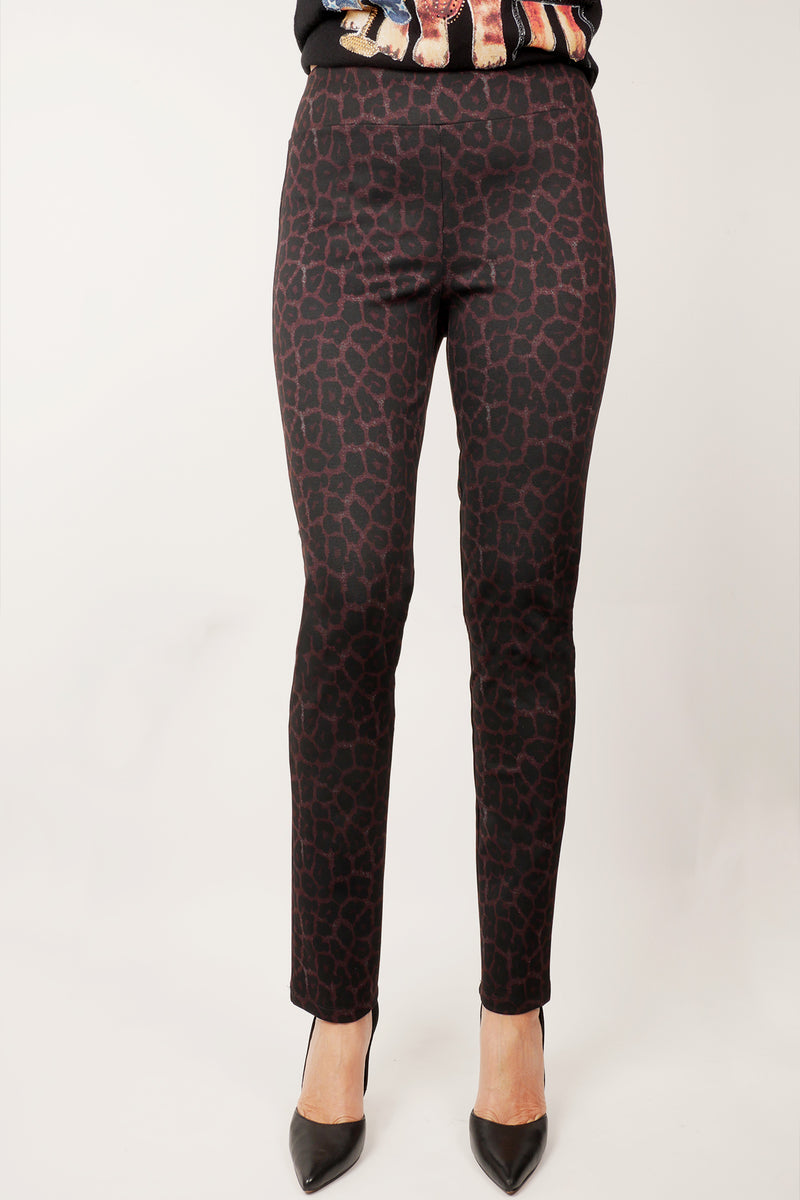 Pinpoint - Pull on animal print pant