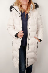 Oxygen zip detail coat