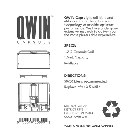 QWIN Capsule (Refillable) - BODY100