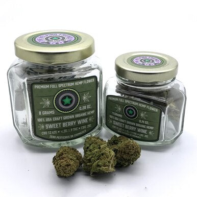 Sweet Berry Wine Full Spectrum Hemp Flower - BODY100