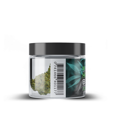 CBD Hemp Flower Jar - Bubba Kush - BODY100