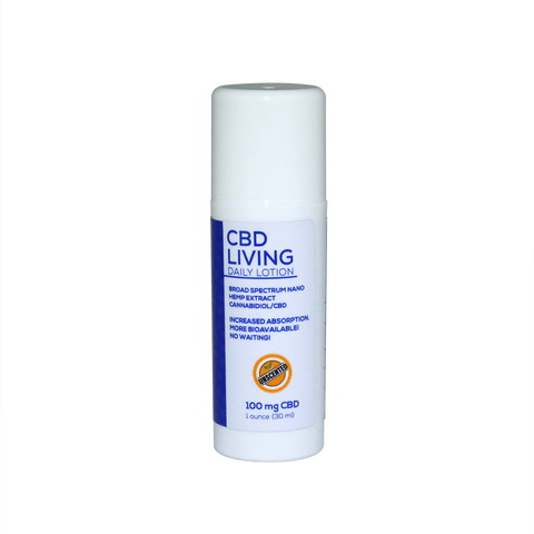 CBD Living Travel Lotion Unscented 100mg 1oz - BODY100
