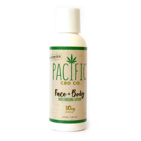 Pacific CBD Co. Face & Body Lotion: 80MG Wholesale - BODY100