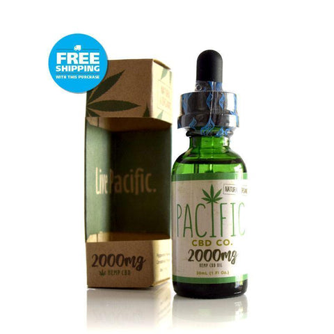 Pacific CBD Co - 2000mg CBD Oil Drops Mango, Peppermint, Strawberry Flavors - BODY100