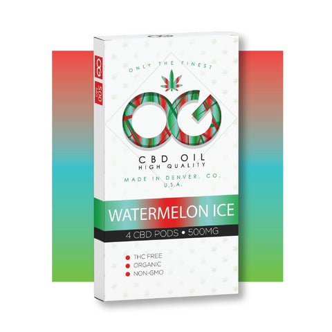 OG CBD Watermelon Ice Pods (Pack of 4) - BODY100