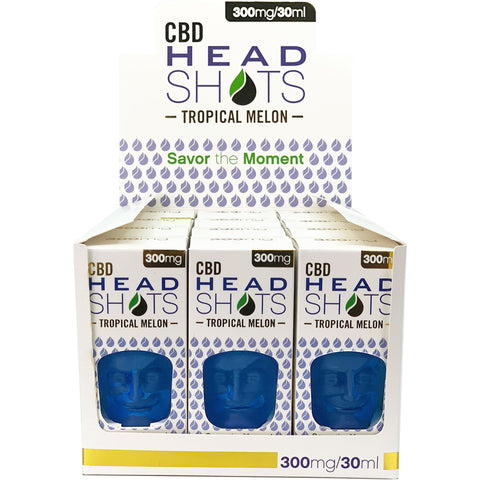 CBD Headshots Tropical Melon 300mg (12 Pack) - BODY100