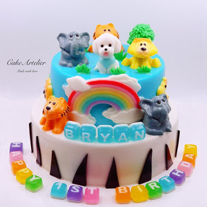 Animals (Gatherings two tiers 02) - CakeArtelier