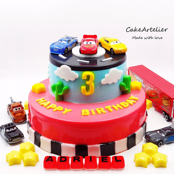 Cars (Two tiers) - CakeArtelier