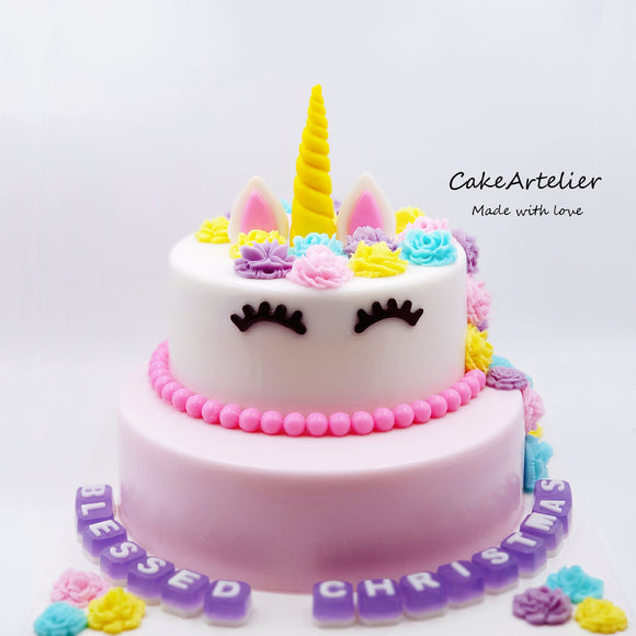 Unicorn (Two tiers) - CakeArtelier