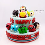 Super Heroes (Two tiers) - CakeArtelier
