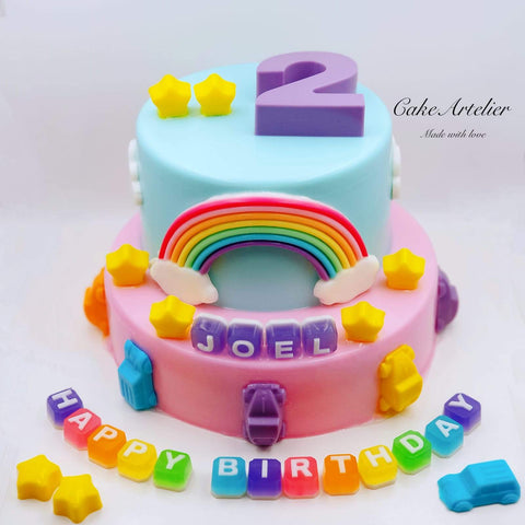 Cars (Two tiers 01) - CakeArtelier