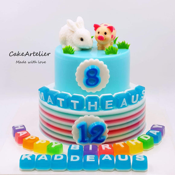 Animals (Gatherings two tiers 01) - CakeArtelier