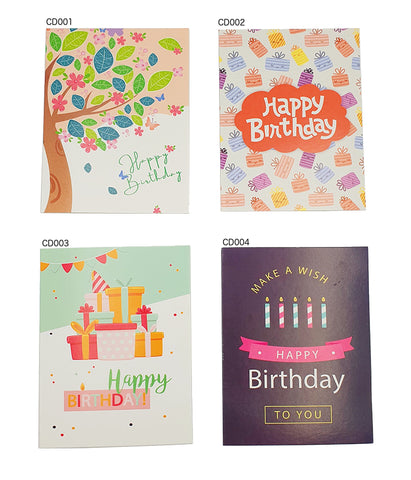 Happy Birthday Card (CD001-004) - CakeArtelier