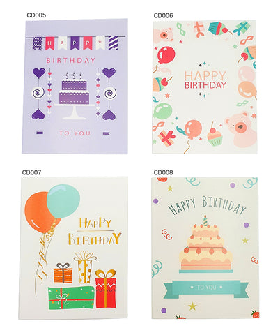 Happy Birthday Card (CD005-008) - CakeArtelier
