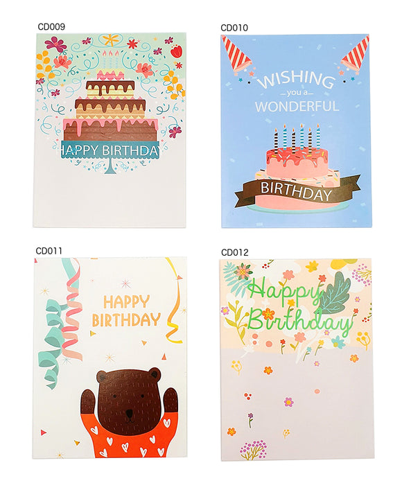 Happy Birthday Card (CD009-012) - CakeArtelier