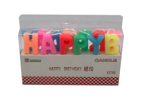 Happy Birthday Candles (Colourful) - CakeArtelier