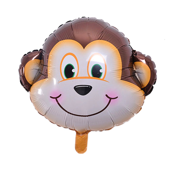 Animal head foil balloon (monkey) - CakeArtelier