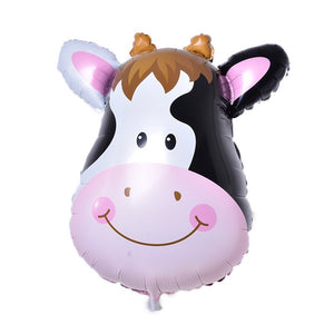 Animal head foil balloon (cow) - CakeArtelier