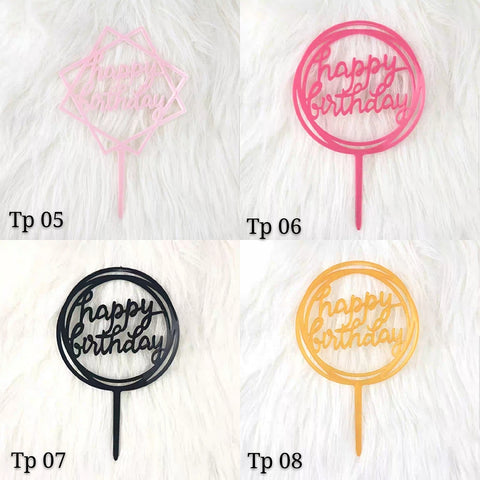 Happy Birthday Toppers (TP05-08) - CakeArtelier