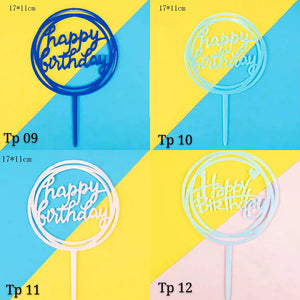 Happy Birthday Toppers (TP09-12) - CakeArtelier