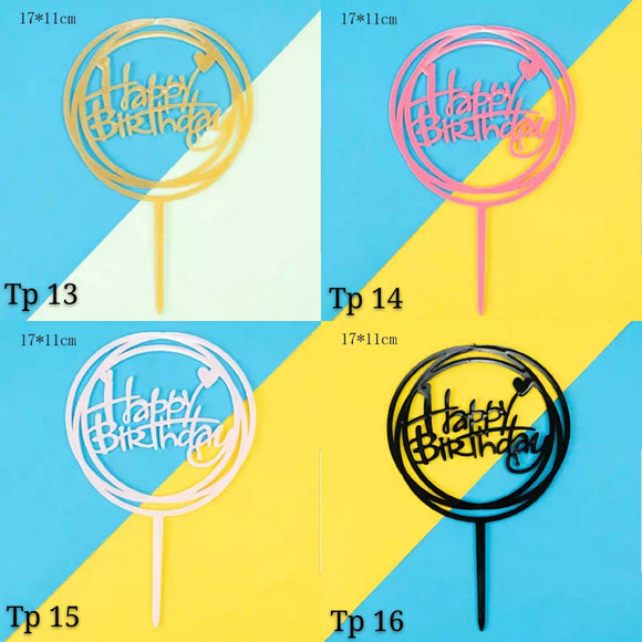 Happy Birthday Toppers (TP13-16) - CakeArtelier