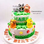 Animals (Gatherings two tiers 03) - CakeArtelier