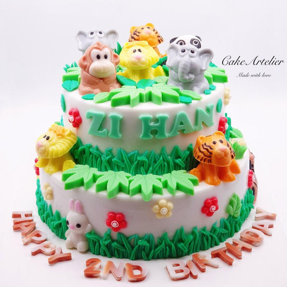 Animals (Gatherings two tiers 04) - CakeArtelier