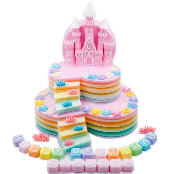 Castle (Heart with steps two tiers) - CakeArtelier