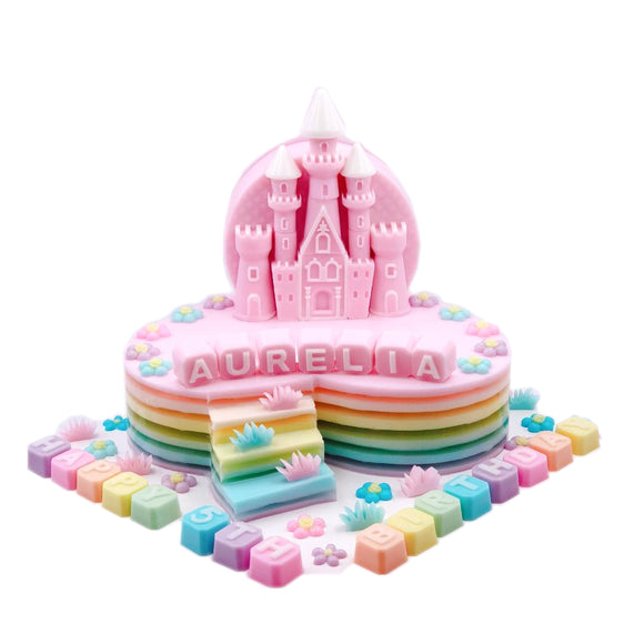 Castle - Pink (Heart with steps) - CakeArtelier