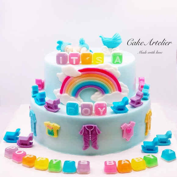 Baby baby (Two tiers 02) - CakeArtelier