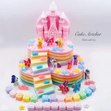 Pony (Heart with steps two tiers) - CakeArtelier