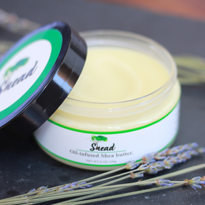 Lavender-infused shea butter
