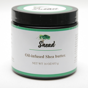 Rose-infused shea butter