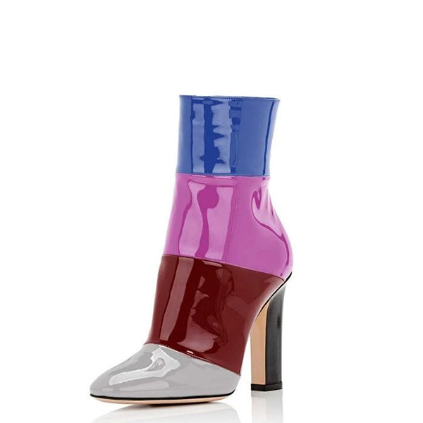 Patent Leather Ankle Boots #2
