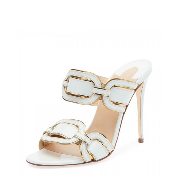 Stiletto Heel Mule Sandals #1