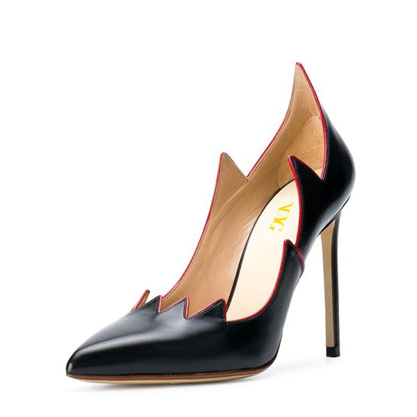 Black Stiletto Heel Pumps