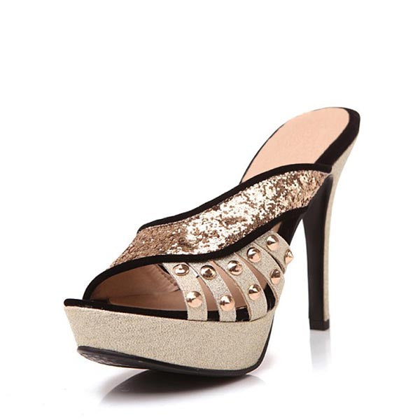 Platform Stiletto Heel Mule Sandals