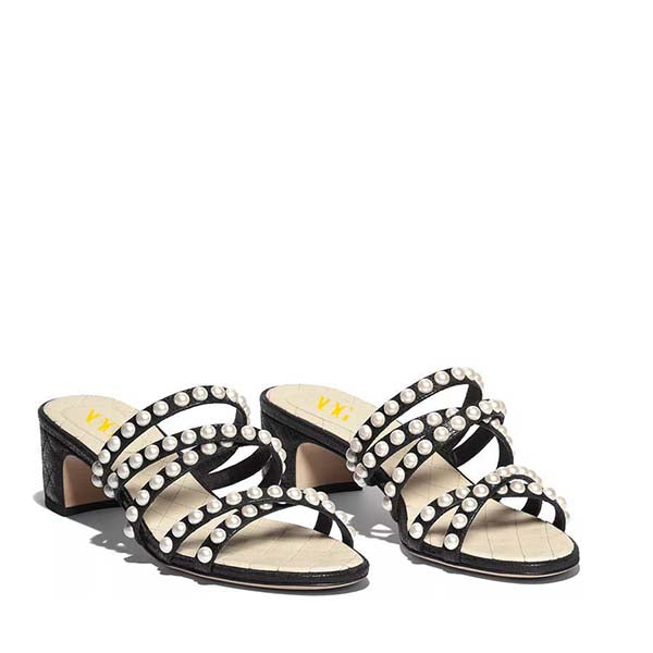 Black Pearl Mules Sandals