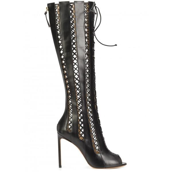 women-s-black-hollow-out-knee-high-stiletto-heel-gladiator-boots