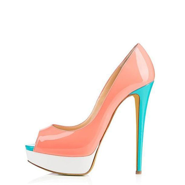 Platform Stiletto Heel Pumps #1